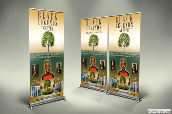 Trade Show Banner for The Black Legends Series