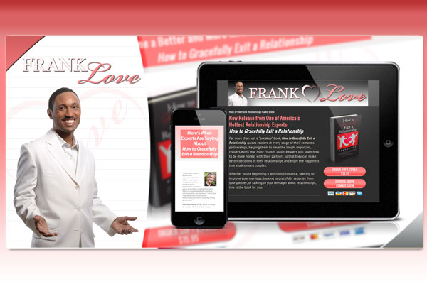 Desktop and Mobile Sales Page for Frank Love