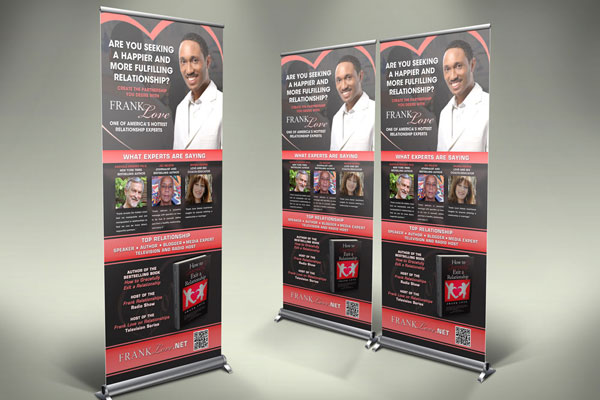 Trade Show Banner for Frank Love