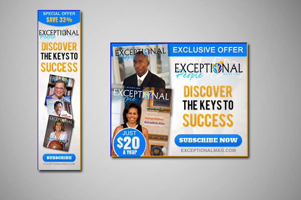 Web Banners for Exceptional People Magazine