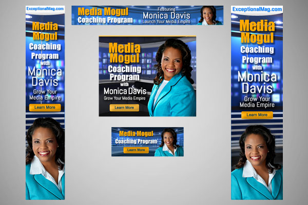 Web Banners for Media Coach Monica Davis