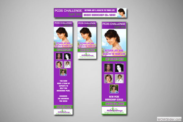 Web Banners for PCOS Challenge, Inc.