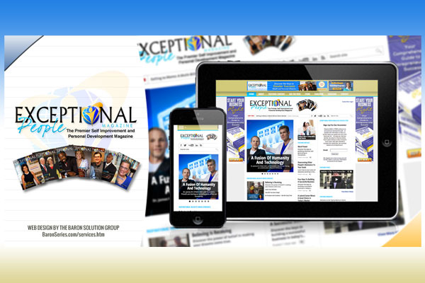 Website for Exceptional People Magazine